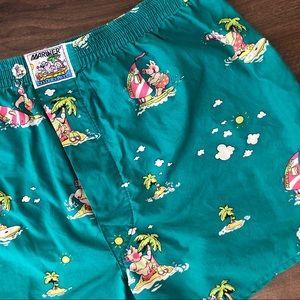Emerald Vintage Piglets Shorts